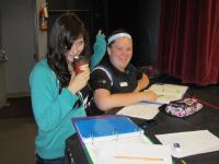 Stage Managers Becca and Erin