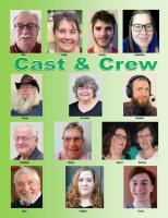 The Cast and Crew of our second virtual play
